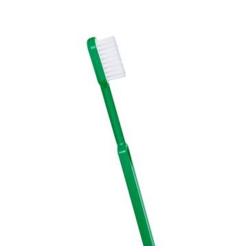 Brosse à dents à tête rechargeable souple verte