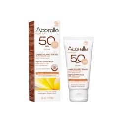 Crème solaire teintée dorée - SPF50