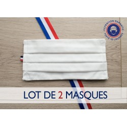 Lot de 2 masques