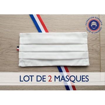 Lot de 2 masques