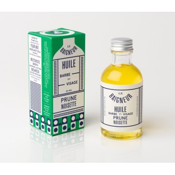 Huile Barbe & Visage Prune/Noisette