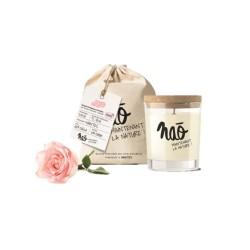 Bougie parfumée naturelle +/-40h - Rose
